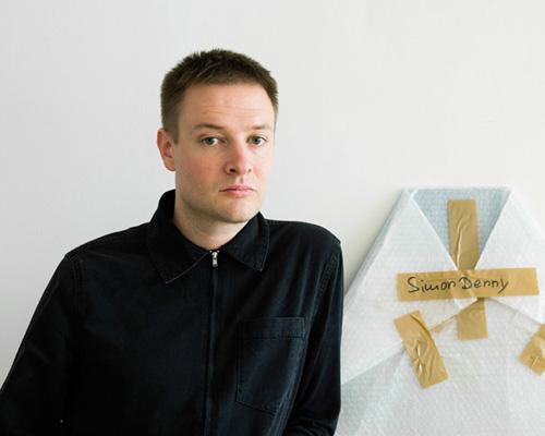 Simon Denny in his Studio
