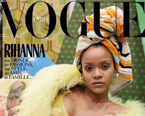 Cover of Vogue Paris with Rihanna