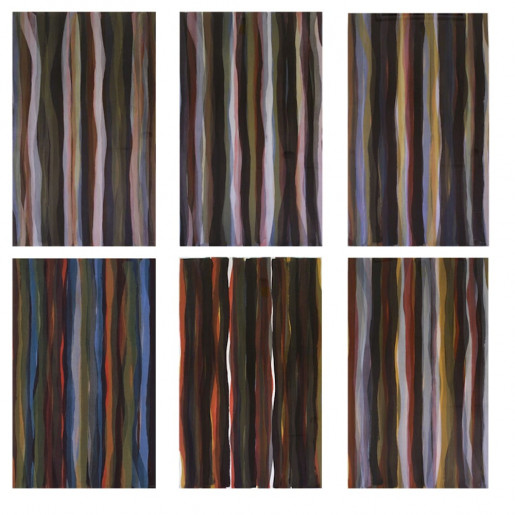 Sol LeWitt, Brushstrokes in Different Colors in Two Directions, 1993