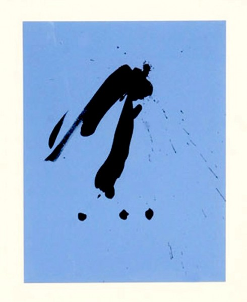 Robert Motherwell, Blue Gesture, 1988