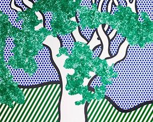 """Rain Forest, from the Portfolio """"Columbus"""" by Roy Lichtenstein"""