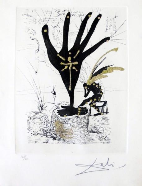 """Salvador Dalí, """"Fleur d'Art"""" from """"Les Amours Jaunes"""", 1974"""