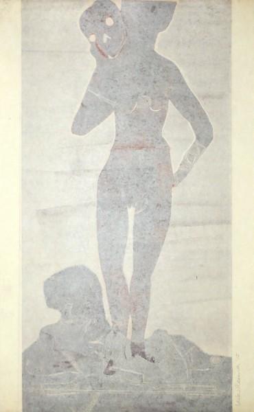 Leiko Ikemura, Muchacha con la muerte, 2015