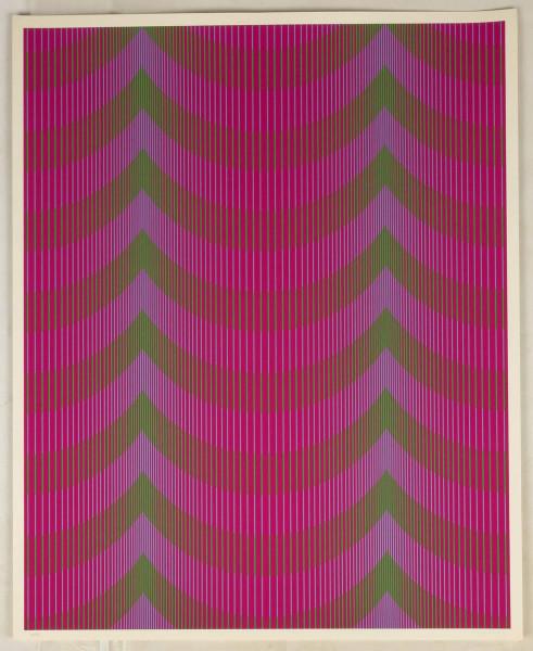 Julian Stanczak, Veiled, 1972