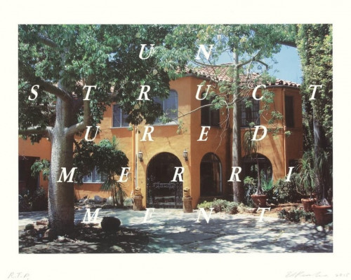 Unstructured Merriment by Ed Ruscha