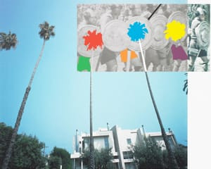 The Overlap Series: Palm Trees and Building (with Vikings)  by John Baldessari
