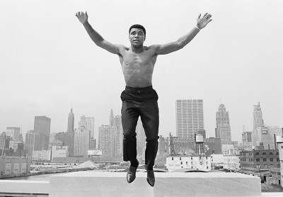Ali Jumping from a Bridge over the Chicago River by Thomas Hoepker