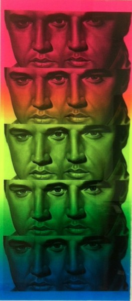 Ron English, Rainbow Elvis II, 2012