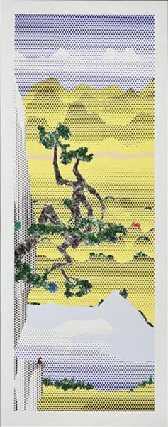 Roy Lichtenstein, Landscape with Poet, 1996