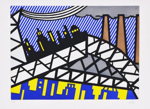 Roy Lichtenstein, Illustration for 'Bayonne en Entrant dans NYC', from La Nouvelle Chute de l'Amérique, 1992