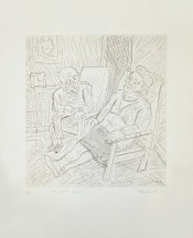 Two Seated Figures