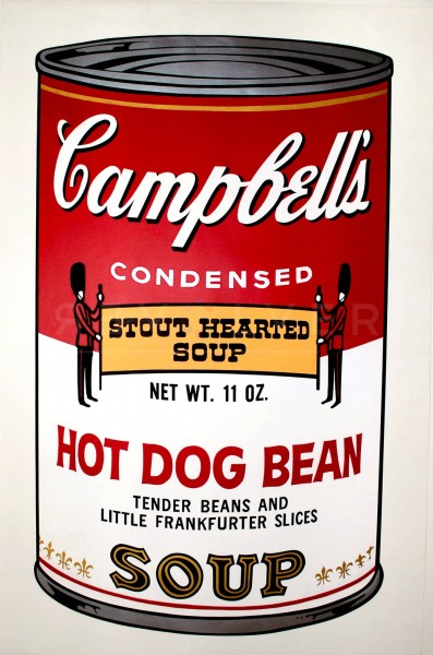 "Andy Warhol, Hot Dog Bean (FS II.59), from the Portfolio ""Campbell's Soup II"", 1969"