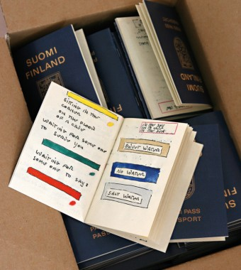 Suomi Finland Passi Port Passport by Lawrence Weiner