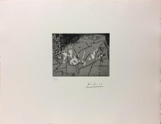 "Pablo Picasso, Jeune Femme et ""Mousquetaire"" de la série 347 (Young Women and ""Musketeer"" from the Series 347), 1968"