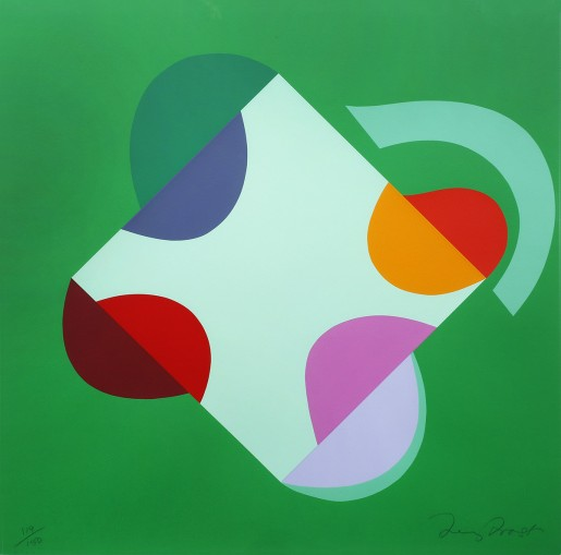 Terry Frost, Development of a Square within a Square (Green), 2000