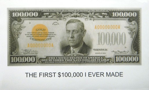 John Baldessari, The First $100,000 I Ever Made, 2012