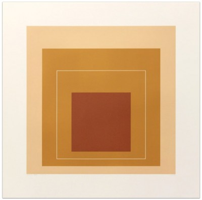 "White Line Square XVI (from ""White Line Squares"" Series II) by Josef Albers"