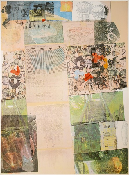 "Robert Rauschenberg, Deposit, from the Portfolio ""America: The Third Century"", 1975"
