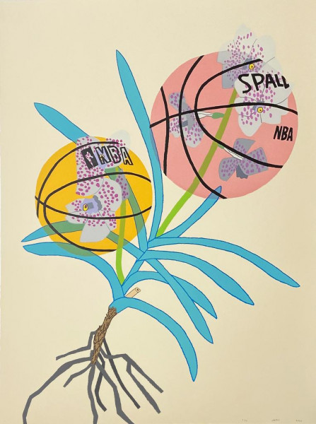 Jonas Wood, Double Basketball Orchid 2 (State I), 2020