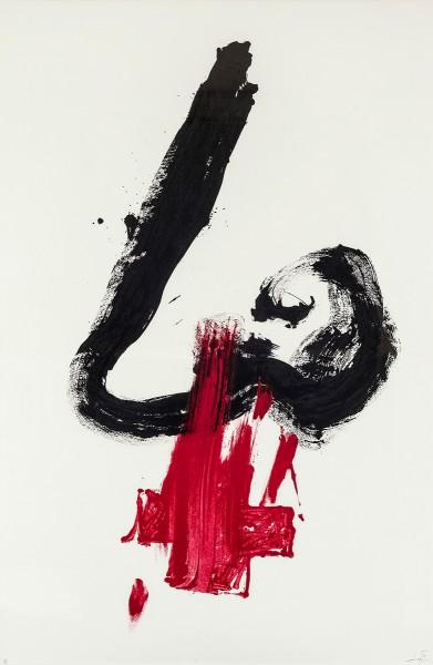 Antoni Tàpies, Nez rouge, 1984