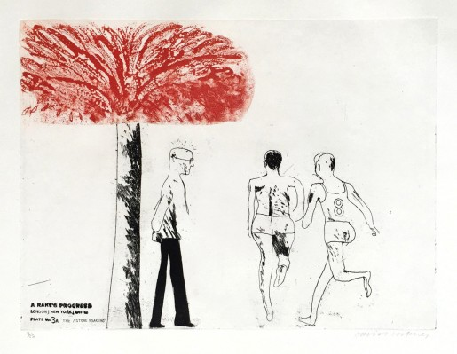 David Hockney, The Seven Stone Weakling, 1961-63