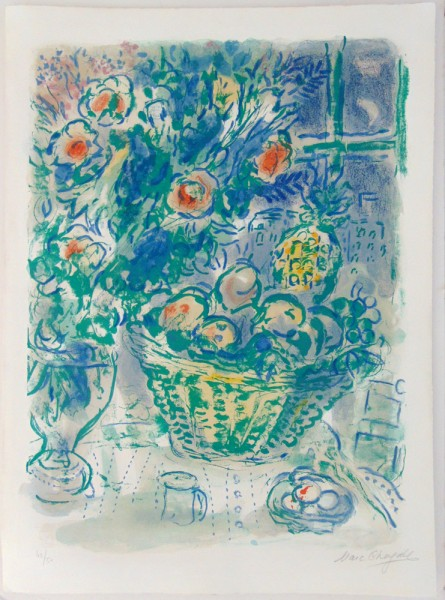 Marc Chagall, Basket of Fruit and Pineapples, 1964