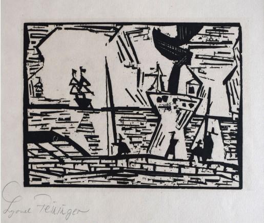 Lyonel Feininger, On the Quay Wall   Auf der Quaimauer, 1921