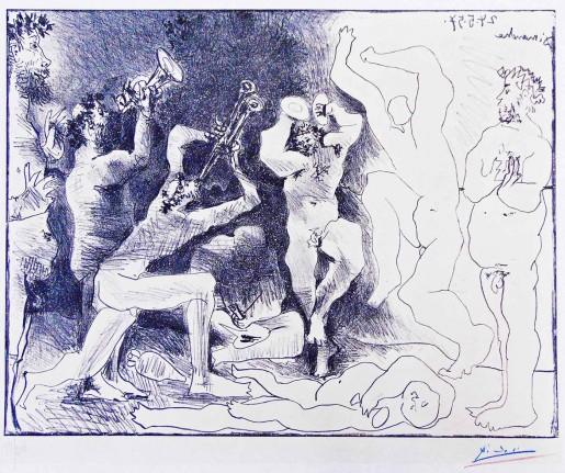 Pablo Picasso, The Dance of the Fauns | La Danse des Faunes, 1957
