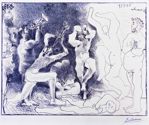 Pablo Picasso, The Dance of the Fauns | La Danse des Faunes, 1957