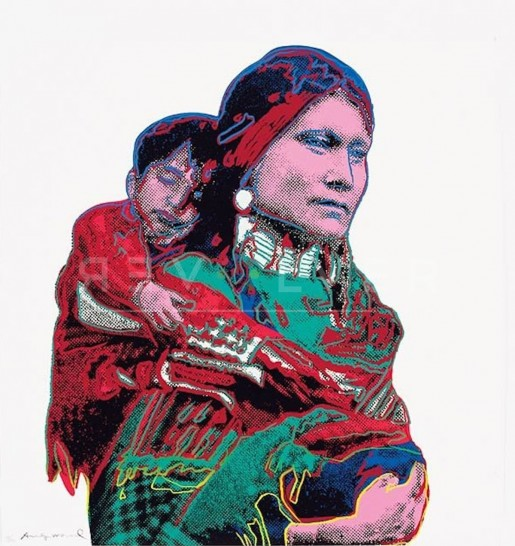 "Andy Warhol, Mother and Child (FS II.383), from the Portfolio ""Cowboys and Indians"", 1986"