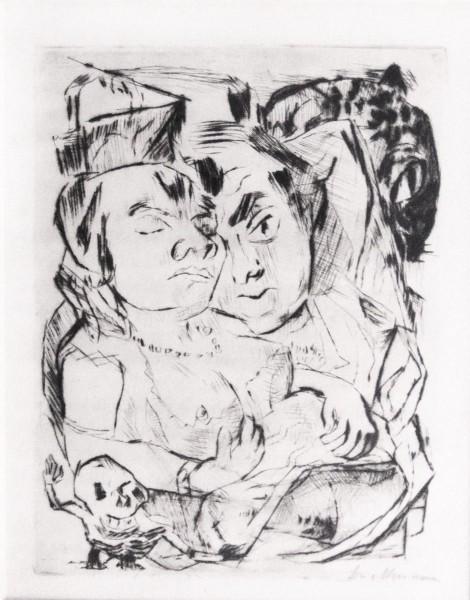 Max Beckmann, Illustration for Chapter Five, from: The Duchess | Die Fürstin, 1917