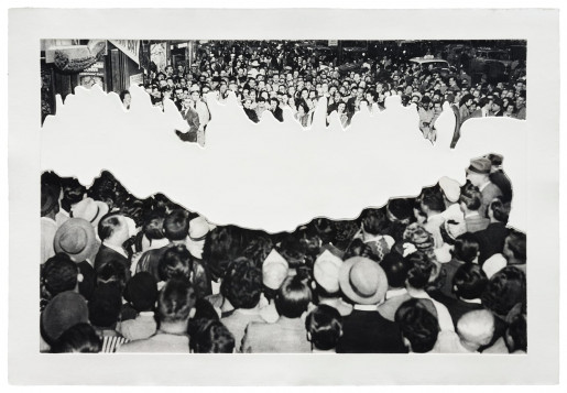 John Baldessari, Crowds with Shape of Reason Missing: Example 2, 2012
