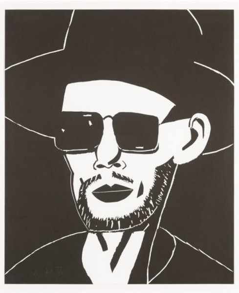 Alex Katz, Black Hat (Tim), 2010