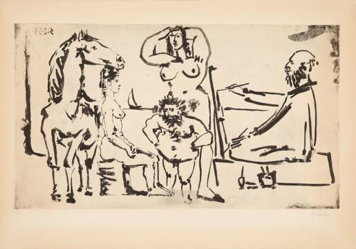 Pablo Picasso, Le peintre sur la plage, 1955