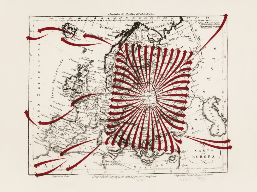 Dick Higgins, Europa - Diaspora (Red), 1988