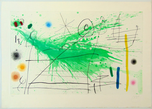 Joan Miró, Composition III, from: A Trip to the Country, 1967