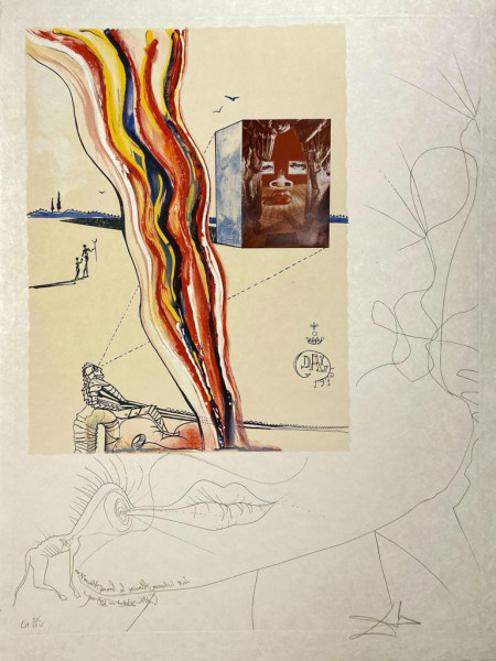 Salvador Dalí, Liquid and Gaseous Television, 1975-1976