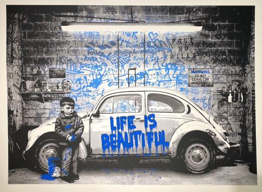 Mr. Brainwash, VW Beetle Blue, 2020