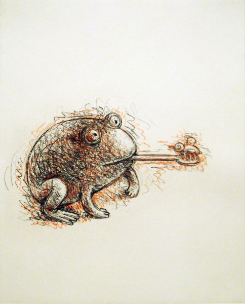 Tom Otterness, Frog with Bee, 1997