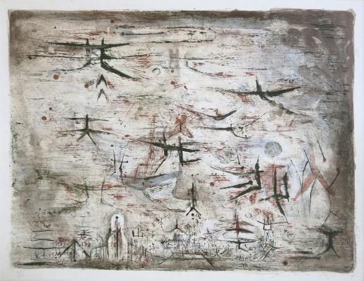 Zao Wou-Ki, Ciel de Paris, 1954