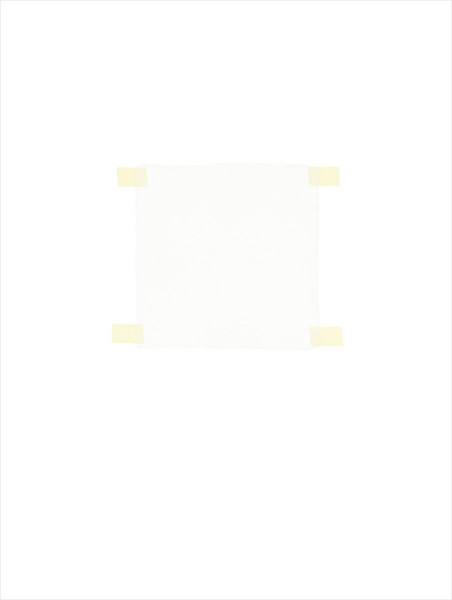 Haleh Redjaian, White square on white paper, 2014