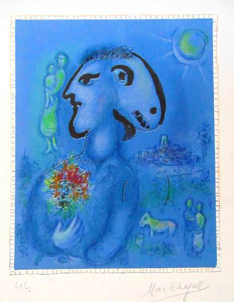 Marc Chagall, The Blue Village (Second State) | Le Village Bleu (2e état), 1974