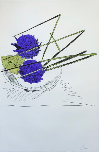 Andy Warhol, Flowers (Hand-Colored) (FS II.116), 1974