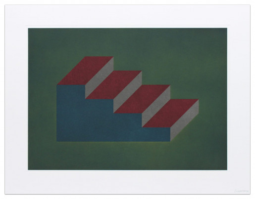 Sol LeWitt, Forms Derived from a Cubic Rectangle (plate #10), 2nd State, 1990