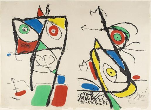 Joan Miró, Le Courtisan Grotesque: Plate X, 1974