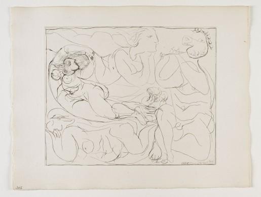 Pablo Picasso, Flûtiste et Trois Femmes Nues (from the Suite Vollard), 1932