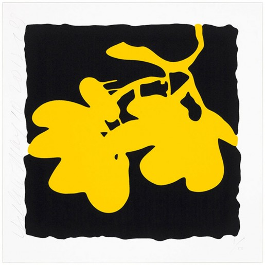 Donald Sultan, Lantern Flowers, May 10, 2012 (Yellow), 2012