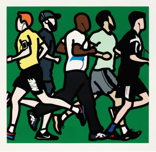 Julian Opie, Runners (Running Men), 2016