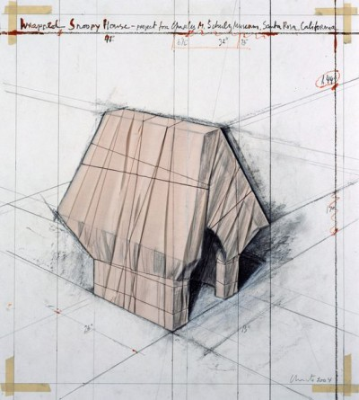 Christo-Wrapped Snoopy House