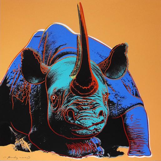 "Andy Warhol, Black Rhinoceros (FS II.301) from the Portfolio ""Endangered Species"", 1983"